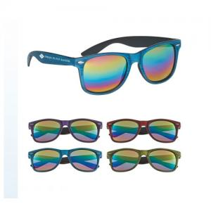 Cool Mirror Lenses Woodtone Sunglasses