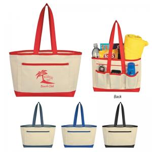 Hard Bottom Busy Bee Canvas Tote Bag