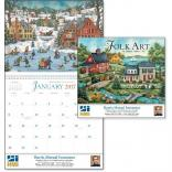 Folk Art Wall Calendar