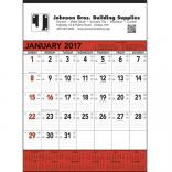 Red & Black Contractors Memo (13-sheet) Wall Calendar