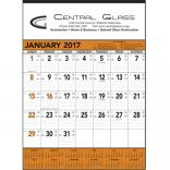 Orange & Black Contractors Memo (13-sheet) Wall Calendar