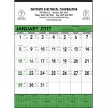 Green & Black Contractors Memo (13-sheet) Wall Calendar