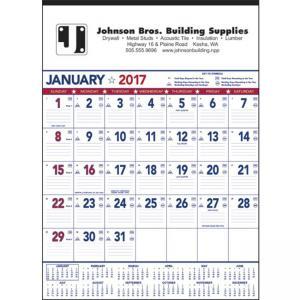 Patriotic Contractor Memo 13-Sheet Wall Calendar
