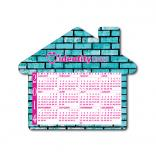 BIC 20 Mil House Shaped Calendar Magnet