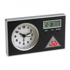 Analog Alarm Clock with Secondary Digital Display