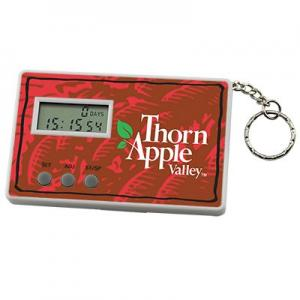 Full Color Day Countdown Timer Keychain