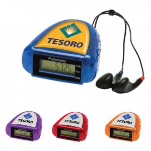 Compact Pedometer with FM Scanner Radio