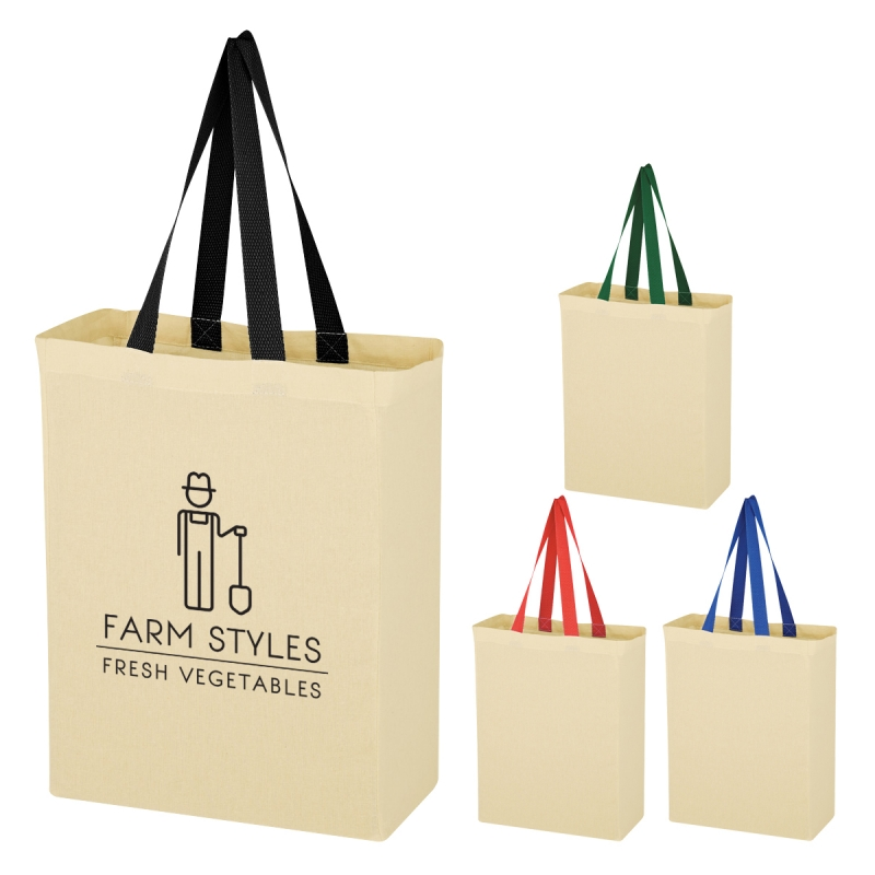 5 oz. Color Accent Handles Tote Bag