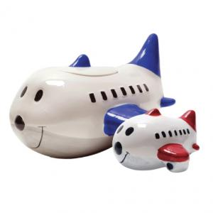 Imprinted Large Airplane Shaped Piggy Bankcookie Jar