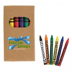 6-Piece Crayon Set in Natural Paper Box