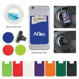 Silicone Magnetic Phone Wallet with Vent Mount