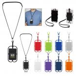 Silicone Lanyard with Cell Phone Holder and Wallet