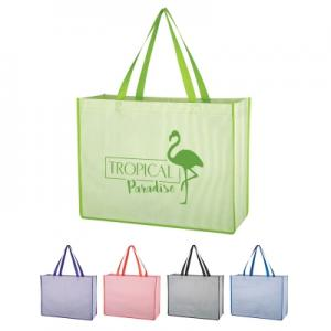The Bahamas Water-Resistant Tote Bag with Ticking Pattern