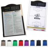 Clipboard with Storage Box and Dual Power Calculator Clip