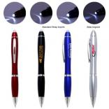 Curvaceous Light Up Pen with Chrome Plate Accents