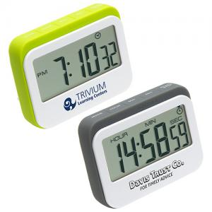 Soft-To-The-Touch Widescreen Digital Kitchen Timer/Clock
