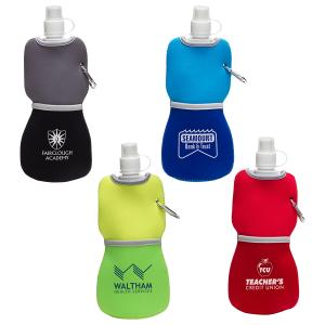 Flexible 16 oz. Water Bottle with Neoprene Insulator