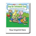 """Keep Your Environment Clean"" Activity Coloring Book"
