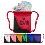 11-Piece First Aid Kit in Mini Drawstring Bag