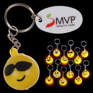 Light Up Emoji Key Chain