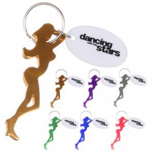 Dancer Silhouette Bottle Opener Key Chain