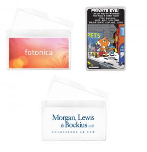 Full Color Credit Card Holder with Magnifying  Glass