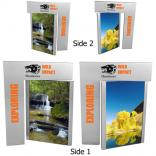 Double-Sided Swivel Vertical Metal Picture Frame