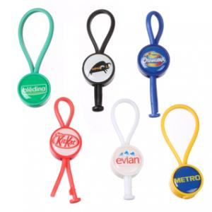 Plastic Domed Loop Keychain
