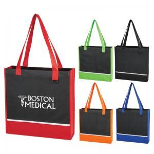 Recyclable Non-Woven Accent Shopper Tote Bag