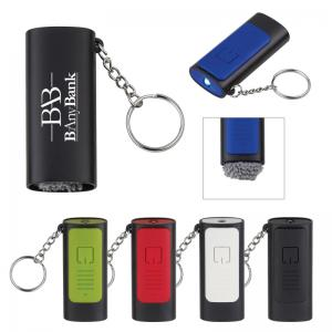 Key Chain Light with Screen Cleaner