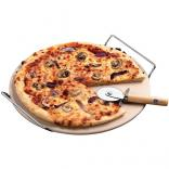 Pizza Stone with Pizza Cutter