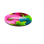 "8"" Round 1/4"" Thick Full Color Soft Mouse Pad"