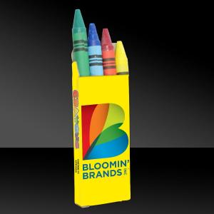 4 Pack Full Color Assorted Crayons