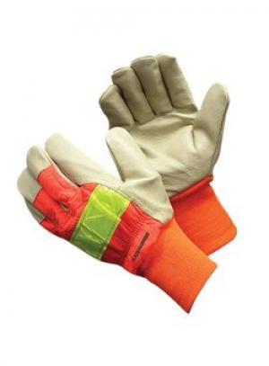 Hi-Viz Pigskin Glove w/ Knit Wrists