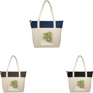 12 oz. Jute and Cotton Zippered Tote