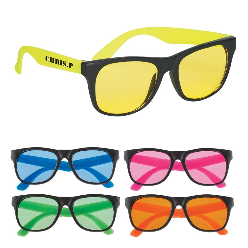 Tinted Lense Rubberized Sunglasses