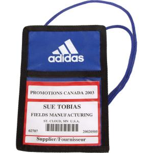 Royal Blue Trade Show Badge Pouch