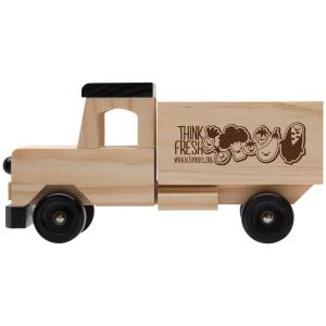 Wooden Truck with Black Accents