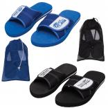 Slide Flip Flops with Color-Coordinated Mesh Bag
