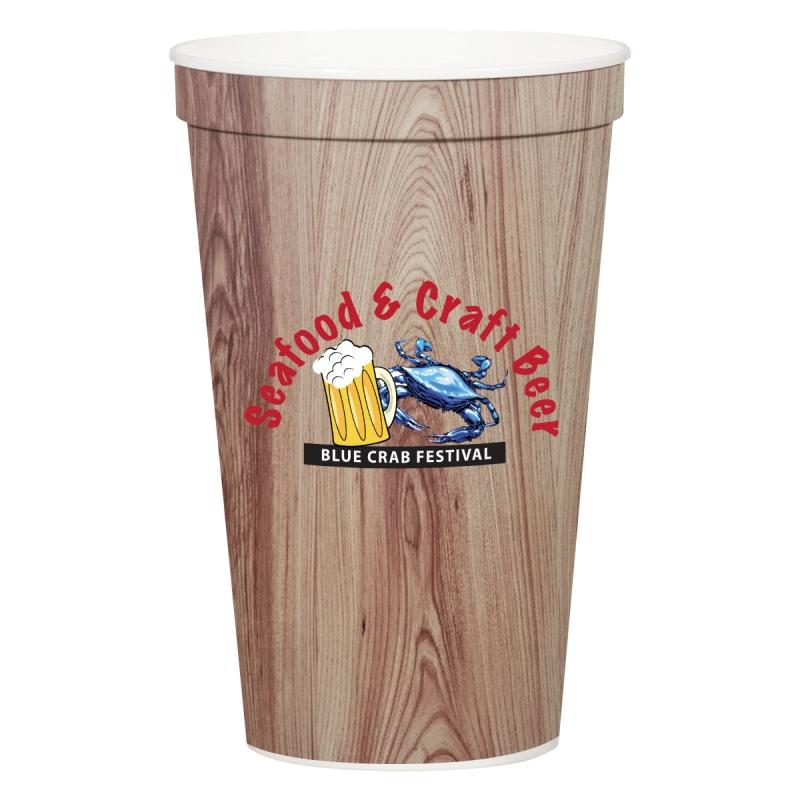 22 oz. Full Color Stadium Cup