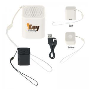 Mini Cube Wireless Speaker With Strap