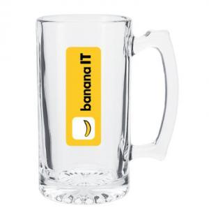 25 Oz Single Wall Glass Beer Mug