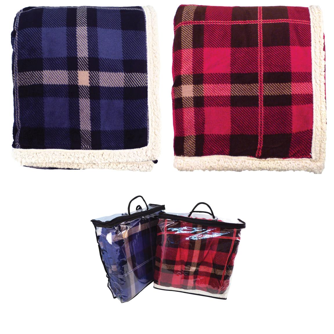 Lambswool Microsherpa Plaid Blanket