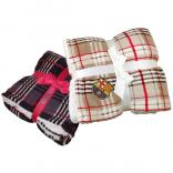Microsherpa Lambswool Plaid Throw Blanket