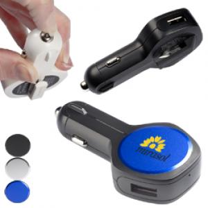 Multi-Functional USB Car Charger Safety Tool