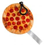 Pepperoni Pizza Plush Keychain