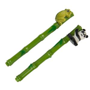 Green Bamboo Pen with Frog or Panda