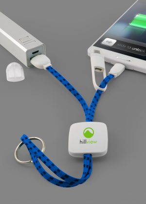 Braided 2 in 1 Charging Cable