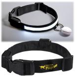 Light Up Pet Collar with Detachable PP Tag Light