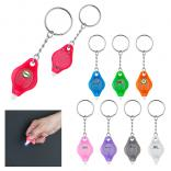 Full Digital Color MINI BEACON LED Flashlight Keychain